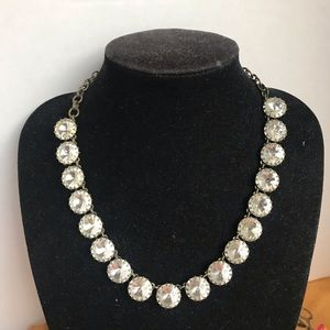 J Crew Rhinestone Collar Choker Necklace Bling 💎